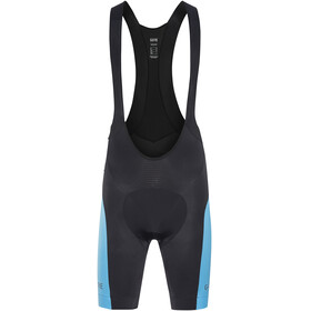 GORE WEAR C5 Bib Tights short Men black/dynamic cyan